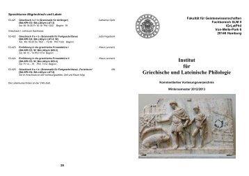 Institut für Griechische und Lateinische Philologie - Universität ...