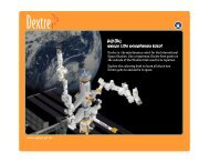 www.space.gc.ca Dextre is the maintenance robot for the ...