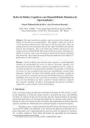 Redes de Rádios Cognitivos com Disponibilidade ... - GTA - UFRJ
