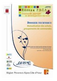 Mutualisation des achats - Agence régionale pour l'environnement ...