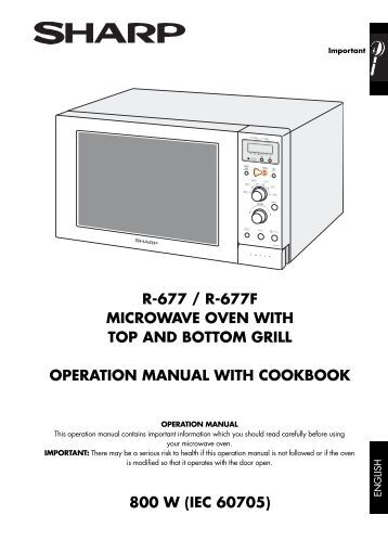 r-671 / r-671f microwave oven with top and bottom grill