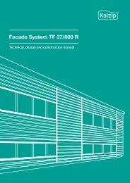 6. Kalzip® Facade System TF 37/800 R