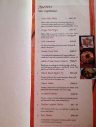 Menu prices and menu items are subject to change without prior notice