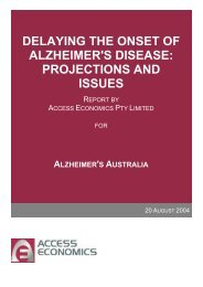 delaying the onset of alzheimer's disease: projections and issues