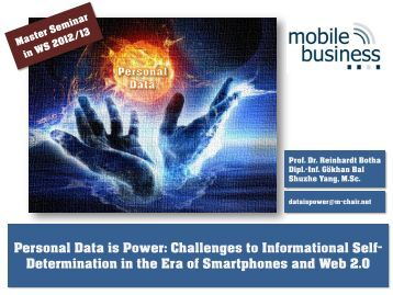 Personal Data is Power - the Chair of Mobile Business & Multilateral ...