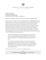 Union Taps UC Press as Partner to Publish The Auk - University of ...