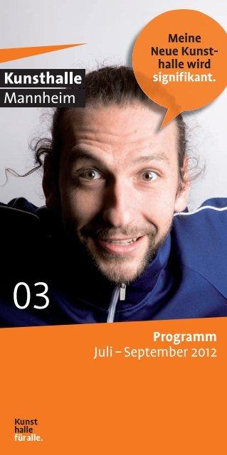 Programm Juli – September 2012 - Kunsthalle Mannheim