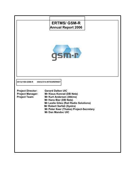 ERTMS/ GSM-R Annual Report 2006