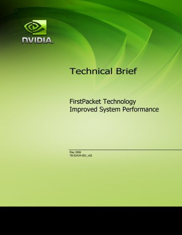 FirstPacket™ Technology Improved System Performance - Nvidia