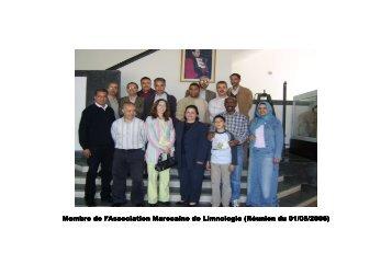 Membre de l'Association Marocaine de Limnologie (Réunion du 01 ...