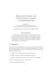 Mathematik 3 Projekt - Weblearn.hs-bremen.de - Hochschule Bremen