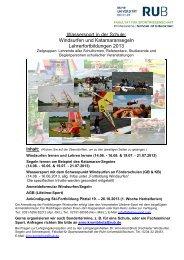 Weitere Informationen - Professional School of Education - Ruhr ...