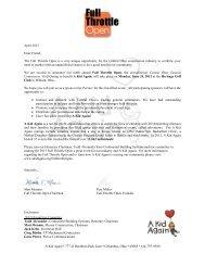 Sponsorship Information - A Kid Again