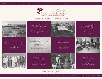 2011 Annual Report - Christian Living Communities