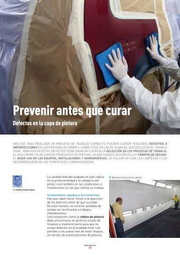 Prevenir antes que curar - Revista Cesvimap