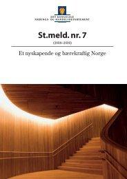 St.meld. nr. 7 (2008-2009) - Norges forskningsråd