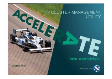 hp cluster management utility - Barcelona Supercomputing Center