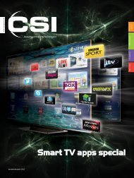 Smart TV apps spec al - CSI Magazine