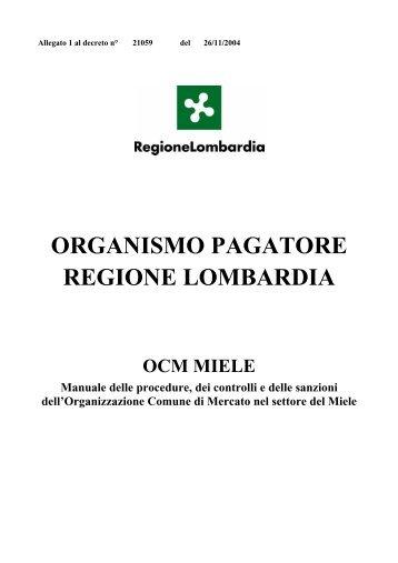 ORGANISMO PAGATORE REGIONE LOMBARDIA