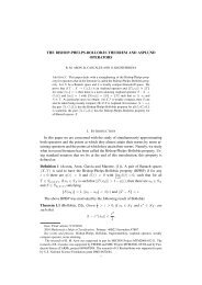 THE BISHOP-PHELPS-BOLLOB ´AS THEOREM AND ASPLUND ...