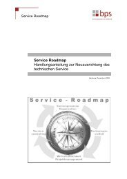 Service Roadmap - bps business process solutions GmbH