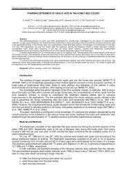 PHARMACODYNAMICS OF OXALIC ACID IN THE ... - Apimondia