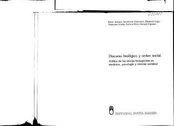 Achard, Pierre Discurso Biológico y Orden Social Pág. 1 a 149