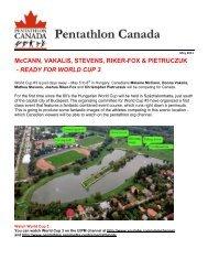 Pentathlon Canada BULLETIN May 2011