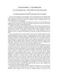 03) La formazione dei Vangeli - Symbolon.net