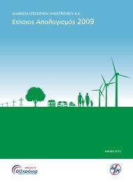 Ετήσιος απολογισμός 2009 (pdf, 1,63 MB) - ΔΕΗ