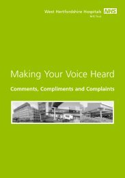 49191_Making Your Voice - West Hertfordshire Hospitals NHS Trust
