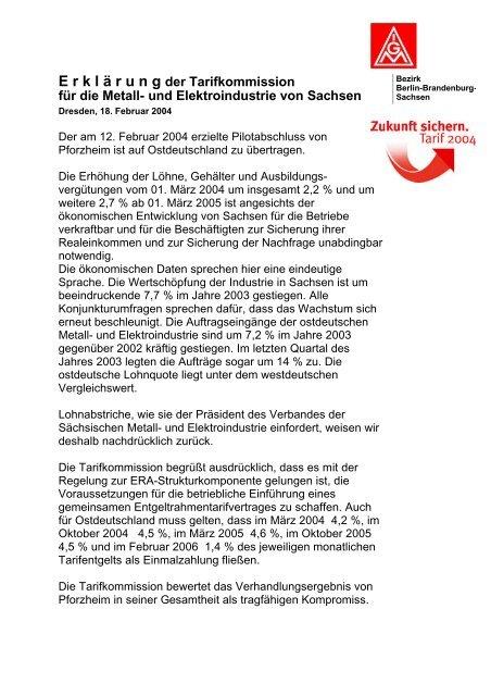 und Elektroindustrie in Sachsen - IG Metall
