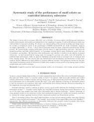 Systematic study of the performance of small robots on controlled ...