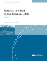 Sustainable Investment in Asian Emerging Markets - IFC