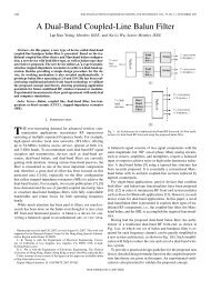 A Dual-Band Coupled-Line Balun Filter - Electronic Engineering ...