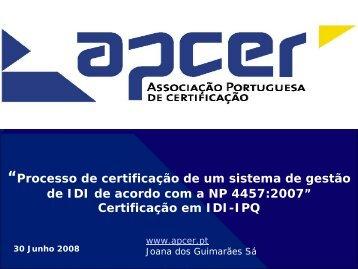 Processo de Certificação de Sistemas de Gestão da IDI - IPQ