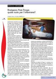Analgesia Post-Triage: quale ruolo per l'infermiere? - Ipasvi