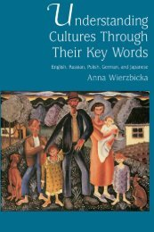 Understanding Cultures through Their Key Words