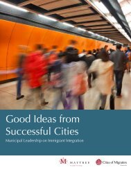 Good Ideas from Successful Cities: Municipal ... - Cities of Migration