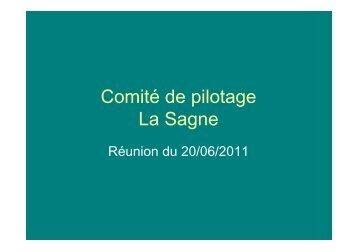 Comité de pilotage La Sagne - Gruissan