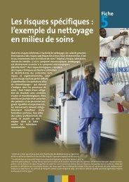 Les risques spécifiques : l'exemple du nettoyage en ... - CRAMIF