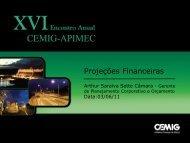 Projeções Financeiras - Cemig
