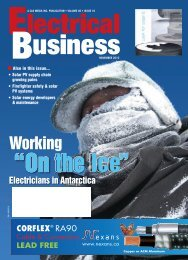 Working - Electrical Business Magazine