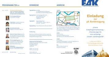 Einladung zur 48. Bundestagung - Evangelischer Arbeitskreis der ...