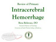 Review of Primary Intracerebral Hemorrhage - Florida Society of ...