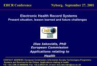 Electronic Health Record Systems EHCR ... - EPJ-Observatoriet