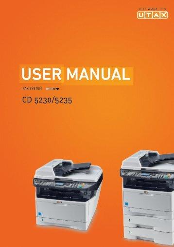 user manual - Utax