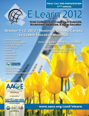 October 9-12, 2012 • Montréal, Quebec, Canada Le - Association for ...