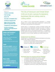 2010-04-22 City of Vancouver-Metro Vancouver Climate Smart ...