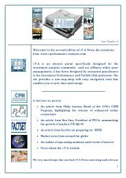 Welcome! to the second edition of i-P-A News, the newsletter from ...